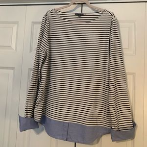 JCrew Mercantile Striped/Chambray Tunic